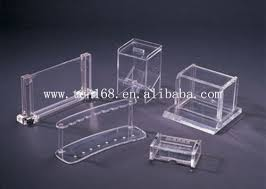 business card display holders square acrylic display stand name
