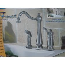 high rise kitchen faucet amazon com corrego brushed nickel high rise kitchen faucet