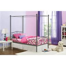 canopy twin metal bed multiple colors walmart com