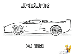 hair raising cars coloring pages jaguar xj 220 cool super car