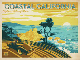 California travel posters images Anderson design group blog our new line of prints vintage ad jpg