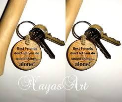 personalized wooden keychains best friend keychains keyring best friends gift quotes key chain