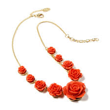necklace rose images Tea rose necklace shop amrita singh jewelry