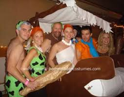 Pebbles Bam Bam Halloween Costumes Coolest Flintstones Group Costume Costumes Halloween Costumes