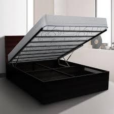deep queen size gas lift bed frame with metal slats buy queen
