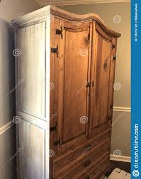 how to whitewash brown cabinets side of white washed pine cabinet during wash stock photo