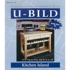 shop u bild kitchen island woodworking plan at lowes com