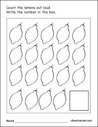 number 19 writing counting identification printable