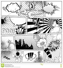 comics template vector retro comic book speech bubbles