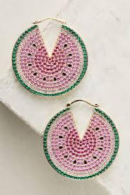 watermelon hoop earrings anthropologie