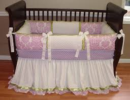 Purple Nursery Bedding Sets by Full Ruffled Skirt With Trim And A Border Upgrade 1916 55 00