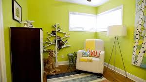 cool kids room ideas dark brown wooden bedside table blue striped