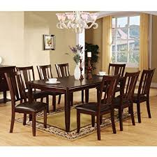 9 piece dining room set amazon com 247shopathome idf 3336t 9pc set dining room 9 piece