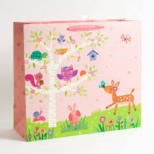 woodland fawn critters baby baby shower gift bag papyrus