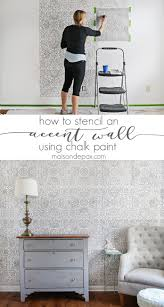 how to stencil an accent wall chalk paint stenciling and walls