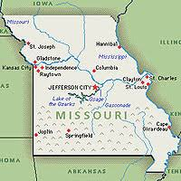 missouri map by population missouri the show me state fifty states compendium
