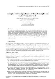 saving the software specification by transforming the old sa rt