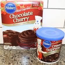 making a pillsbury chocolate cherry cake youtube