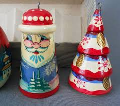 russian painted turned wood ornaments boxed set of