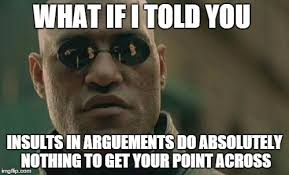 Meme Insults - every time i get in an argument on imgflip criticize me tell me