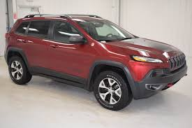 jeep chevrolet 2015 pre owned 2015 jeep cherokee trailhawk 4d sport utility in paris