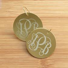 monogram earrings metal monogram earrings online store powered by storenvy