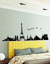 Large Wall Stickers For Living Room by Amazon Com Hunnt Large I Love Paris Eiffel Tower Sticker Decal