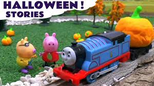 peppa pig halloween peppa pig and thomas u0026 friends play doh halloween stories