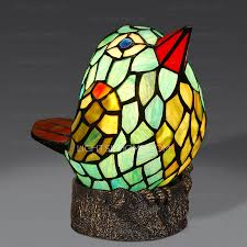 cute angry birds shaped stained glass shade tiffany table lamp