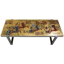 themed coffee table denisco themed coffee table for sale at 1stdibs