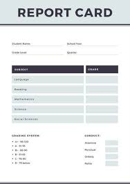 homeschool middle school report card template blue simple homeschool report card templates by canva