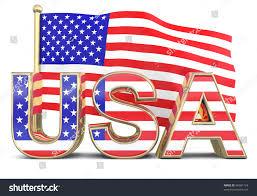 Model American Flag Usa Word American Flag 3d Model Stock Illustration 96681124