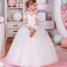 online get cheap long sleeve lace prom dress for kids aliexpress