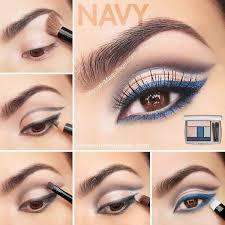 navy eye makeup for brown eyes