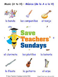 elementary spanish resources music