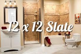 slate tile bathroom designs 12x12 slate bathroom walls liberty home solutions llc