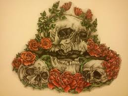 skull and roses tattoo design by craig297060 on deviantart