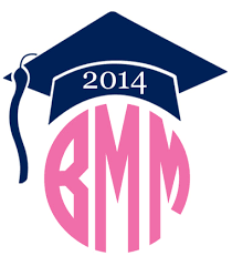 monogram graduation cap monogrammed graduation cap vinyl decal