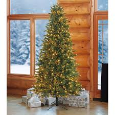 7 5 u0027 artificial pre lit slim christmas tree