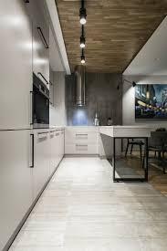 contemporary apartment concrete floor tiles