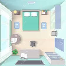 place de chambre conception d intérieur de chambre avec lit place de travail en