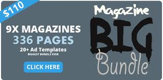 6x magazine ad template pack by pmvch graphicriver