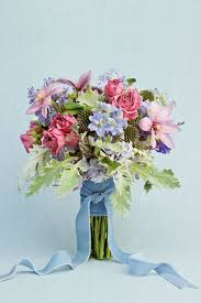 blue wedding bouquets blue wedding flowers southern living