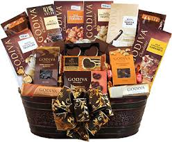 chocolate gift basket godiva grandeur chocolate gift basket