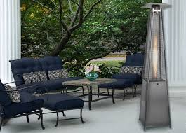 Pyramid Patio Heater Glass Tube by 7 Ft Pyramid Propane Patio Heater In Stainless Steel Han102ss