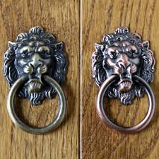 antique bronze lion lion drawer knobs pull dresser drop rings antique bronze lion