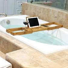 bathtub caddy home depot bathtub caddies tray wood caddy no2uaw com