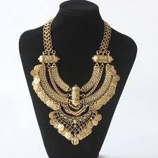 gold vintage statement necklace images Bohemian power necklace gold or silver necklace vintage gypsy jpg
