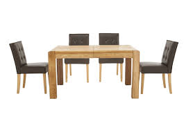 Dining Room Sets 4 Chairs by Portland Extending Dining Table And 4 Buttonback Chairs