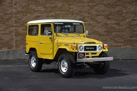 yellow toyota 1981 toyota fj40 land cruiser motorcar classics exotic and